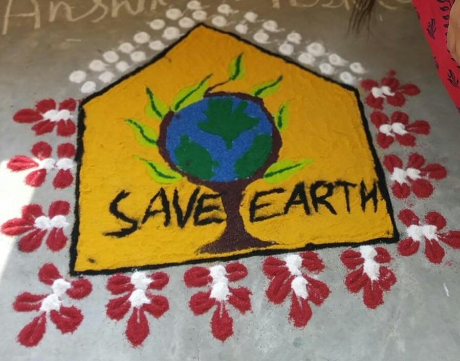 World Environment Day 2019 Theme Rangoli Poster Drawing Design Ideas