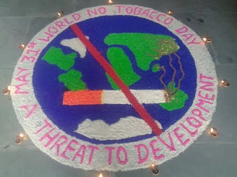 world-anti-smoking-day-rangoli