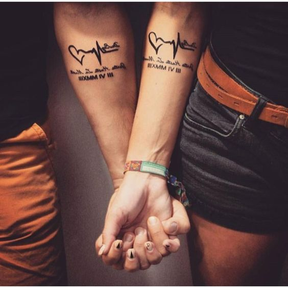 heartbeat-tattoo-design-for-couple