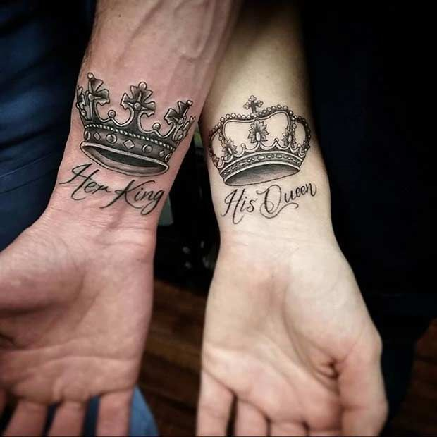 king-queen-tattoo-design-for-couple