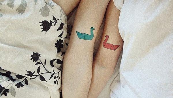 origami-tattoo-design-for-couple
