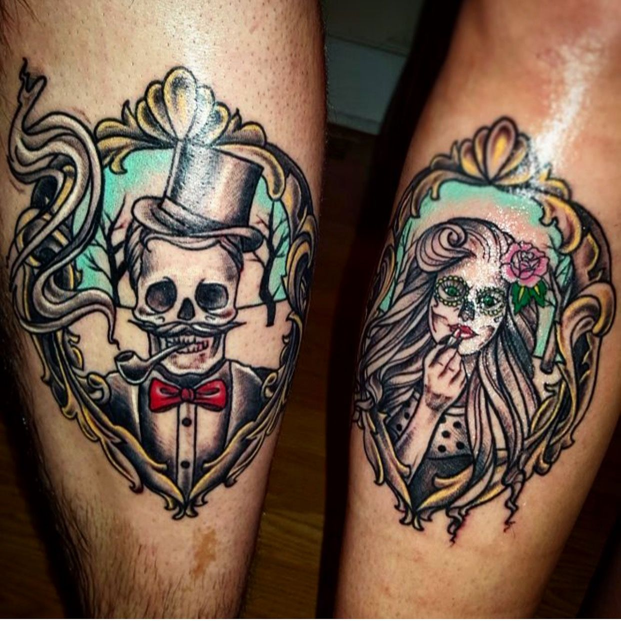 skull-tattoo-design-for-couple