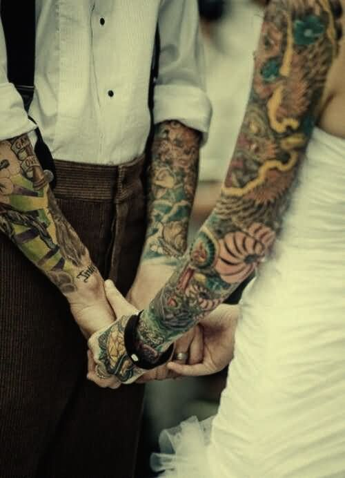 sleeve-tattoo-design-for-couple
